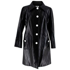 Courreges Black Techno Vinyl Trench Coat - Size US 8
