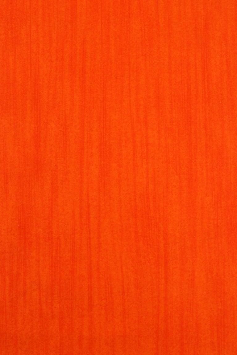 COURREGES c.1970s Trompe L'oeil Orange Blue Signature Logo Painted Oblong Scarf For Sale 1