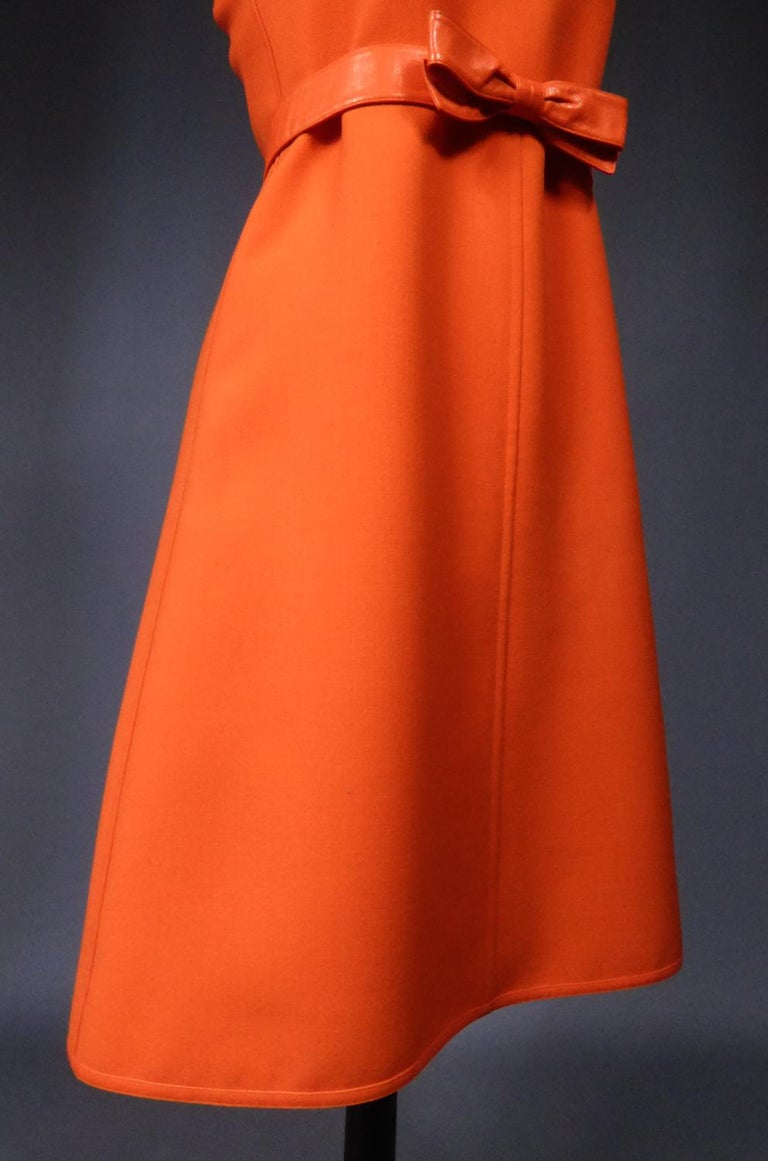 Courrèges Couture Future Dress numbered 0045426 Circa 1970/1972 For Sale 5