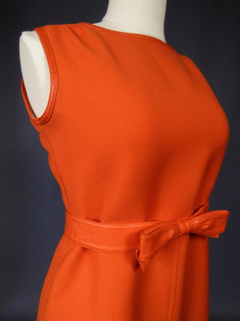 Courrèges Couture Future Dress numbered 0045426 Circa 1970/1972 For Sale 6