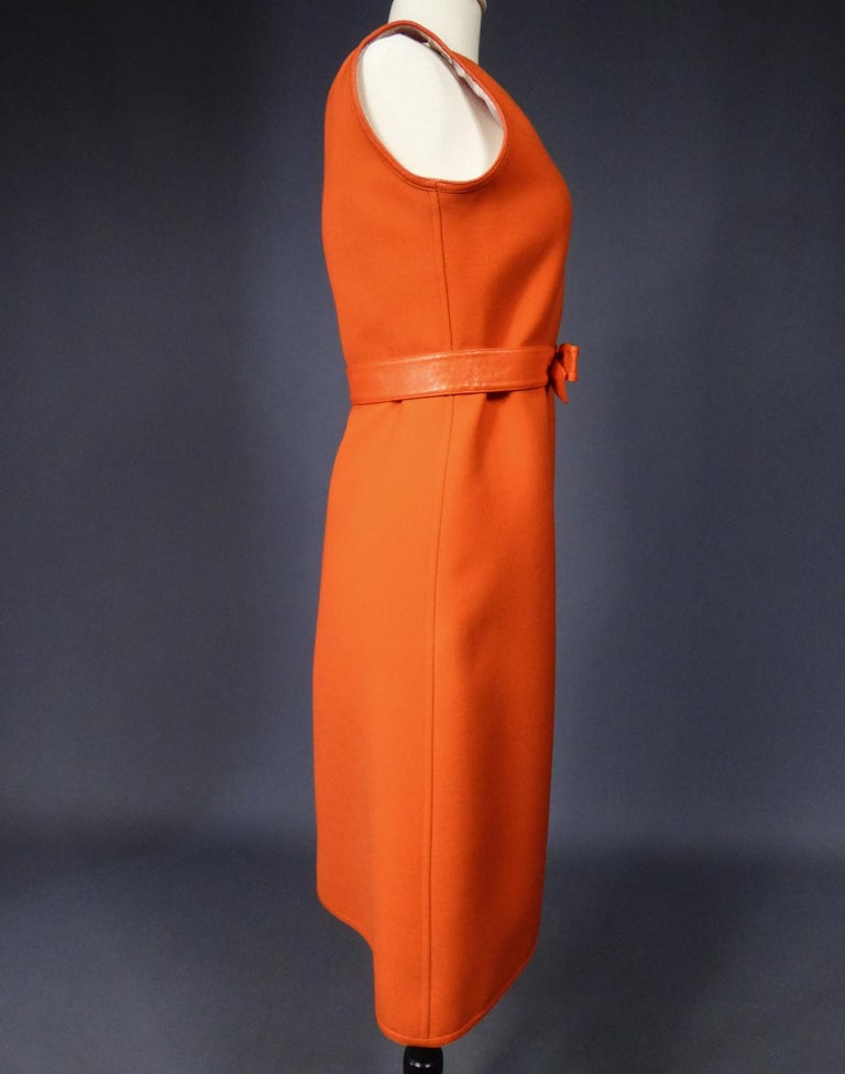 Courrèges Couture Future Dress numbered 0045426 Circa 1970/1972 For Sale 7