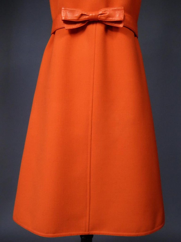 Courrèges Couture Future Dress numbered 0045426 Circa 1970/1972 In Excellent Condition For Sale In Toulon, FR