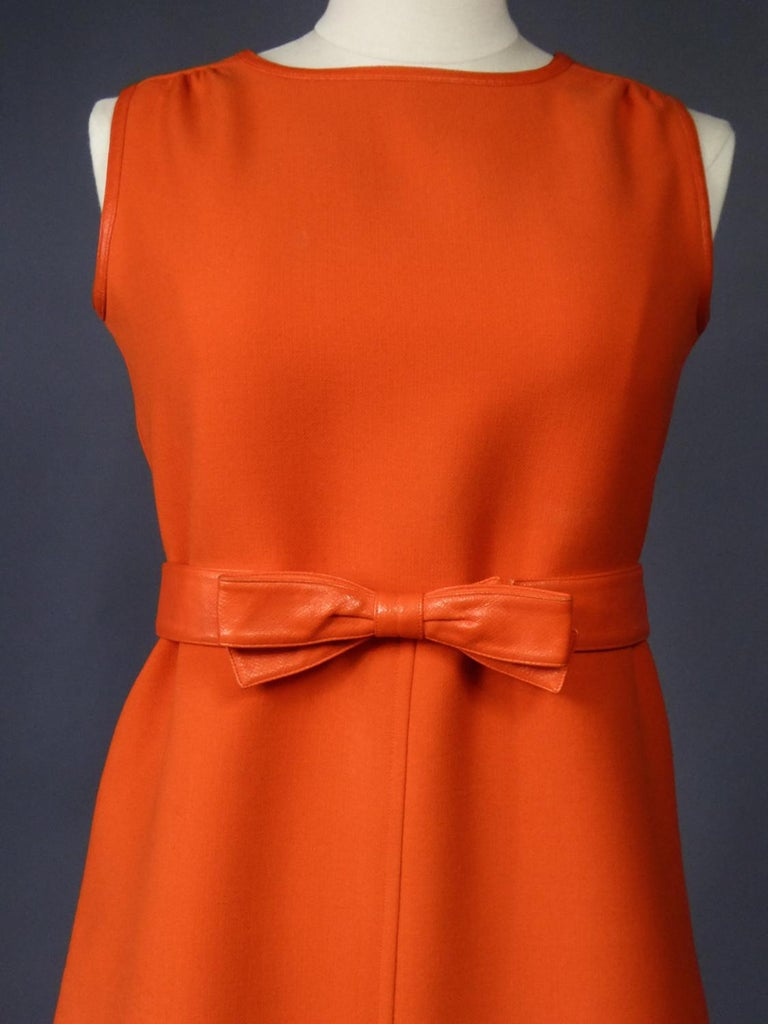 Courrèges Couture Future Dress numbered 0045426 Circa 1970/1972 For Sale 2