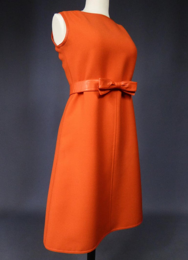 Courrèges Couture Future Dress numbered 0045426 Circa 1970/1972 For Sale 4