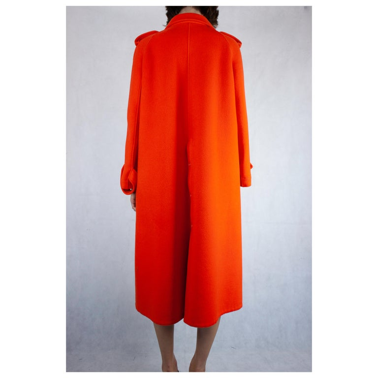 Courrèges Couture numbered military style wool coat. circa 1967 For Sale 1