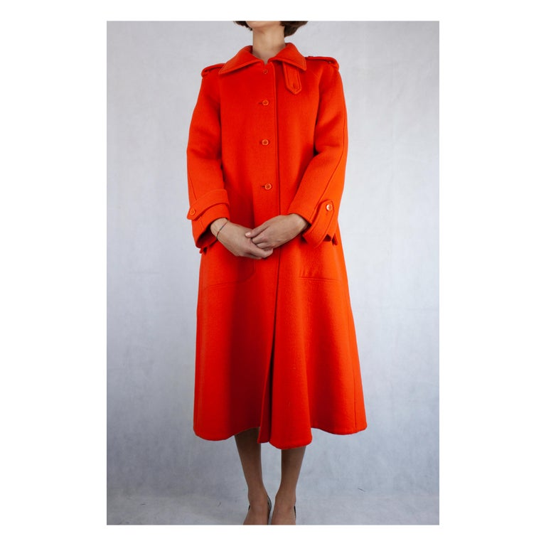Courrèges Couture numbered military style wool coat. circa 1967 For Sale 2