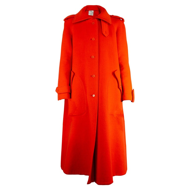 Courrèges Couture numbered military style wool coat. circa 1967 For Sale