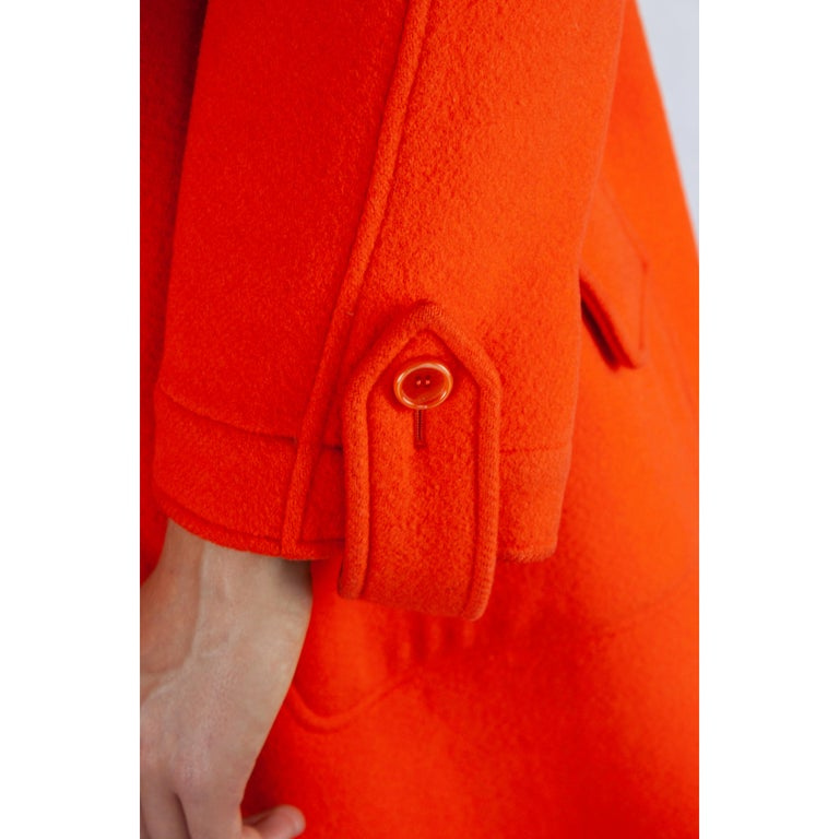 Courrèges Couture wool coat. circa 1967 For Sale 4