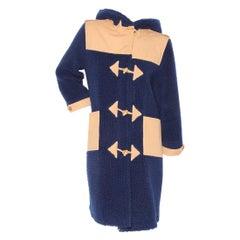 Courreges Fleece Long Coat (1970's)