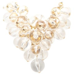 Courreges Lucite Bubble Bead Necklace