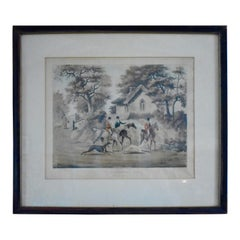 "Coursing ""Going Out"" Fox Hunt Engraving Plate I, circa 1823, London"