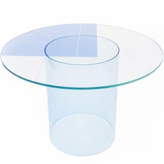 Court 1 Round Table in Interlayer Glass Surface