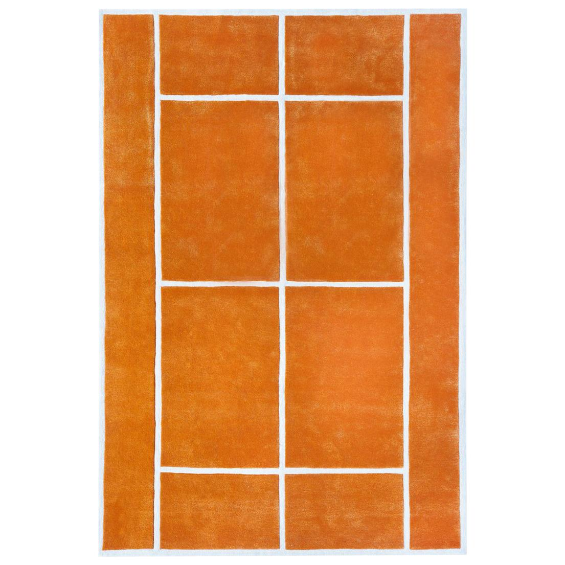 """""""Court Series"""" Clay Court Rug by Pieces, Hand-Tufted Colorful Sporty Carpet"""