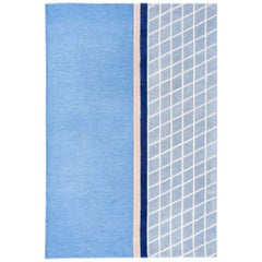 """Court Series"" Net Rug by Pieces, Modern Hand Tufted Grid Pattern Sporty Carpet"