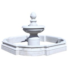Courtly Marble Fountain, 21st Century