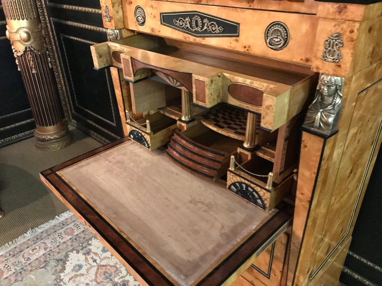 Courtly Secretaire in the Empire Style For Sale 6