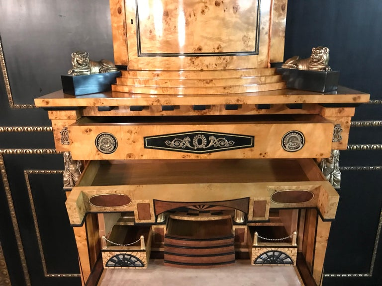 Courtly Secretaire in the Empire Style For Sale 8
