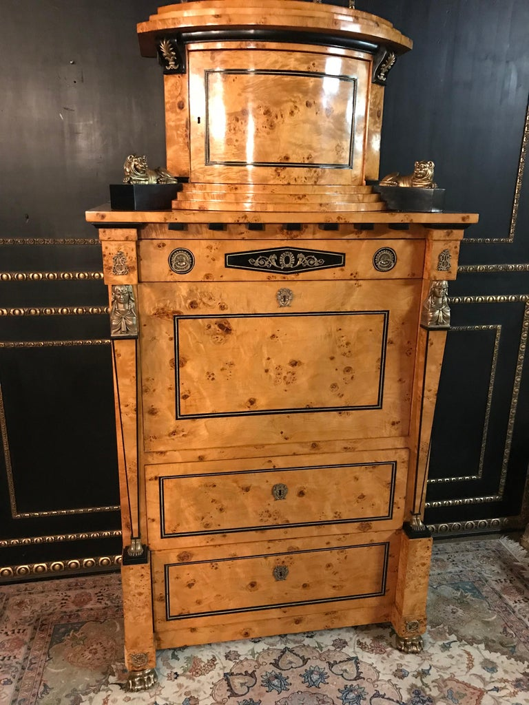 Courtly Secretaire in the Empire Style In Good Condition For Sale In Berlin, DE