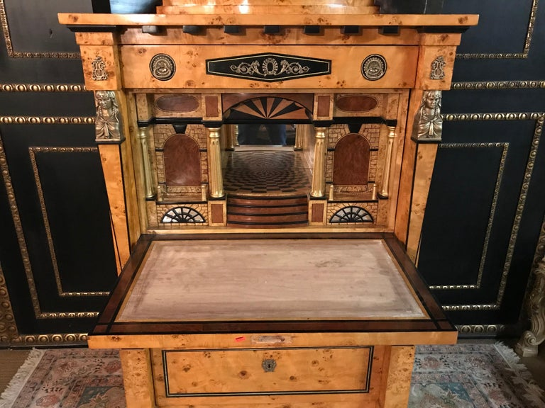 20th Century Courtly Secretaire in the Empire Style For Sale