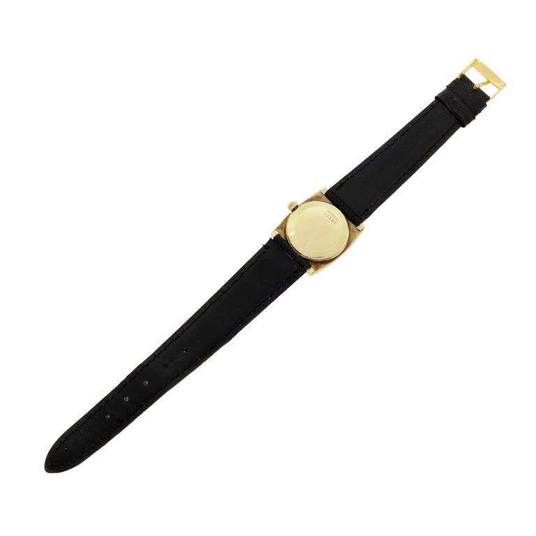 Modern Couture Bulova For Christian Dior 14 Karat Gold White Dial Ladies Wristwatch For Sale