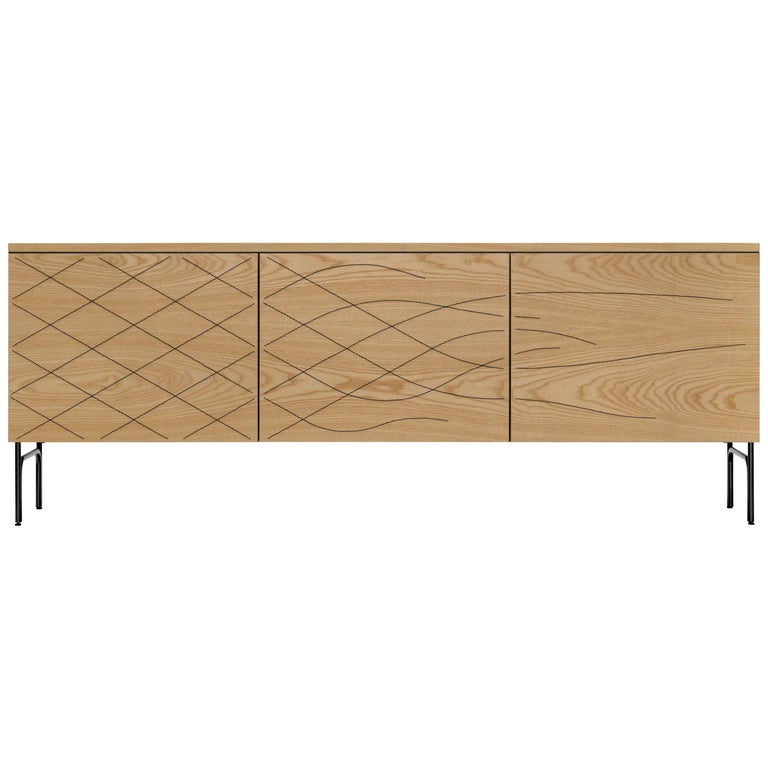 Couture Cabinet, Natural Ash For Sale