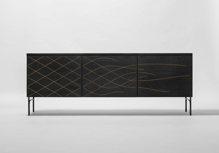 Modern Couture Cabinet, Stained Black For Sale