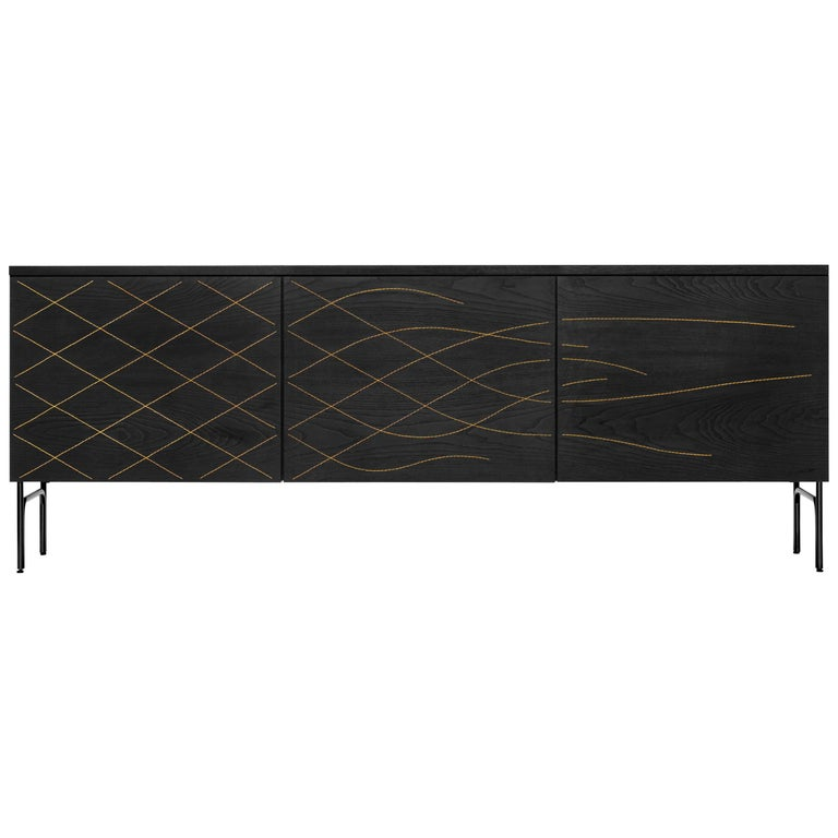 Couture Cabinet, Stained Black For Sale