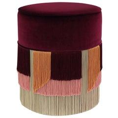 Couture Geometric Giò Purple Ottoman