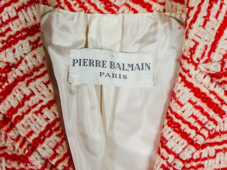 Couture Pierre Balmain Chiné Knitted Coat Circa 1970 3