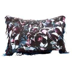 """Couture Vandertol Studio """"Passages"""" Magnolia Silk Pillow"""