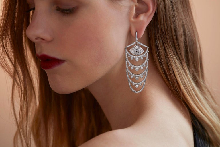 Modern  Stephen Webster Couture Voyage New York  Diamond Pavé Earrings For Sale