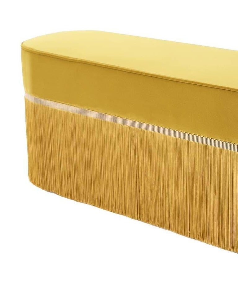 Modern Couture Yellow Bench by Lorenza Bozzoli Design For Sale