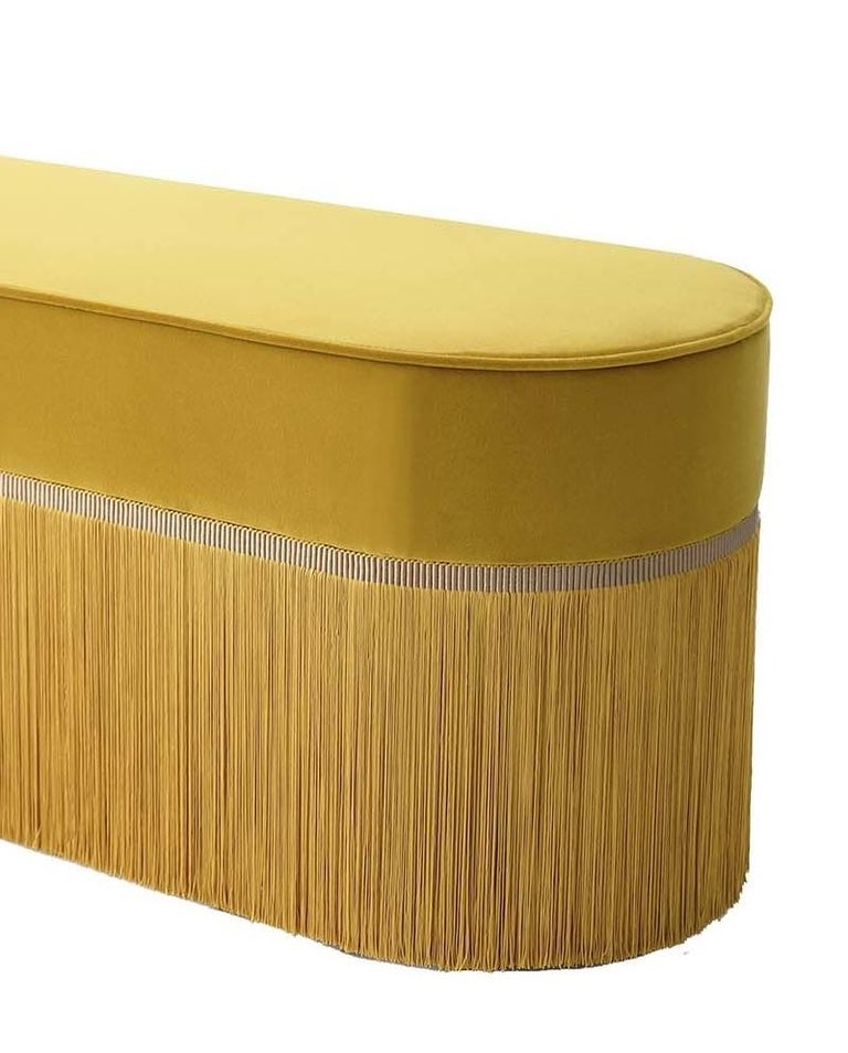Italian Couture Yellow Bench by Lorenza Bozzoli Design For Sale