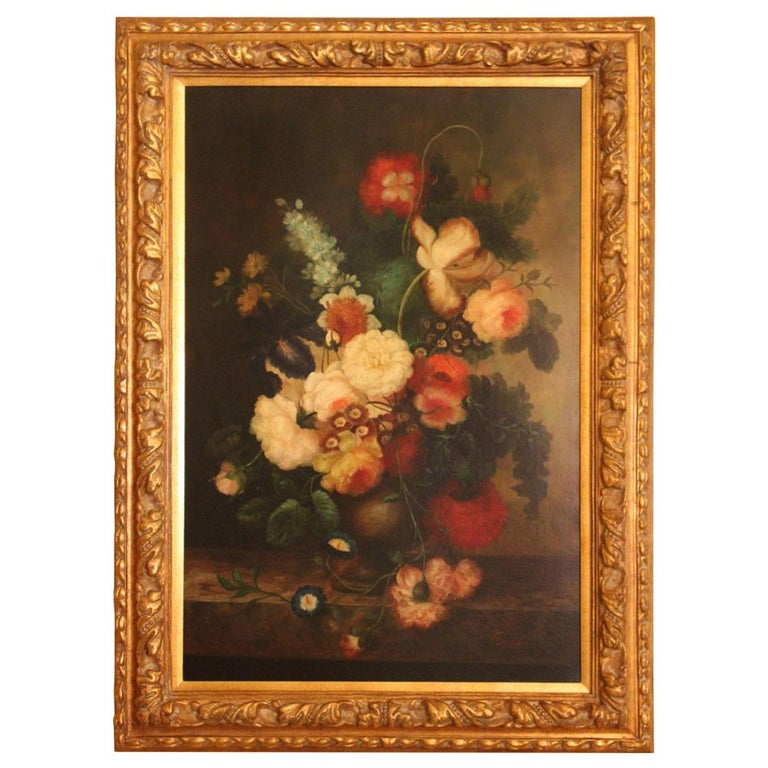 Covelly, Oil, Floral Still Life For Sale