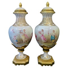 Covered Urns 'attributed to Sevres'
