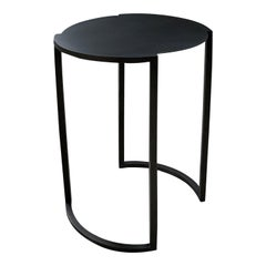 Covet Black Steel Side Table by Soraya Osorio