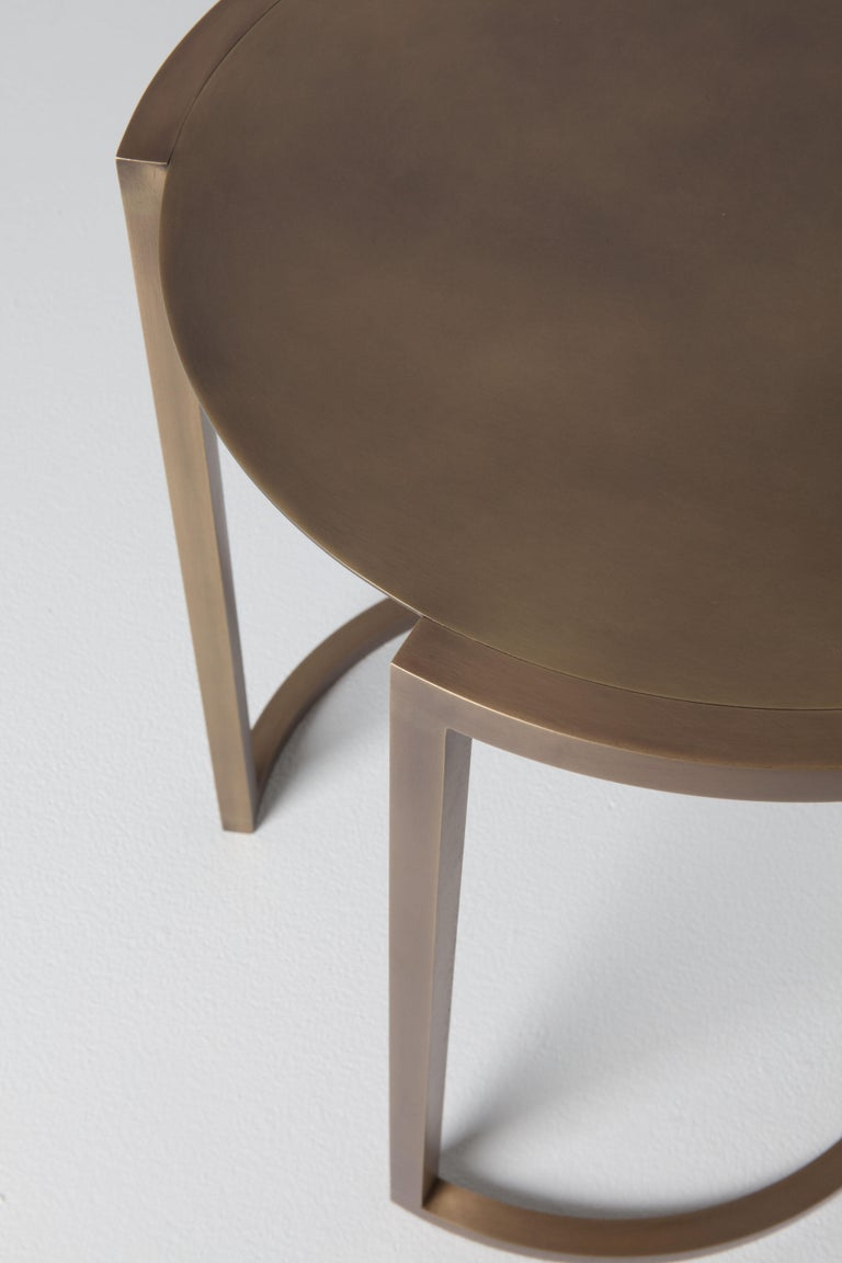Modern Covet Brass Side Table by Soraya Osorio For Sale