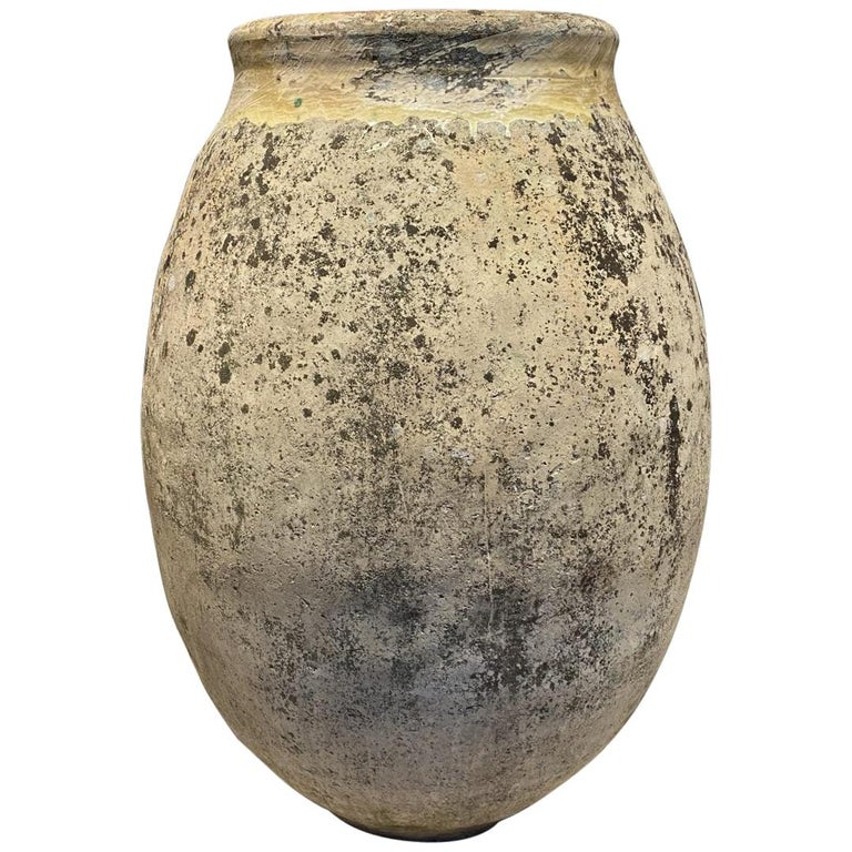 Coveted Large Antique Biot Pottery Holder, Pre-1900s For Sale