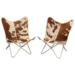 Cow Hide Butterfly Chairs