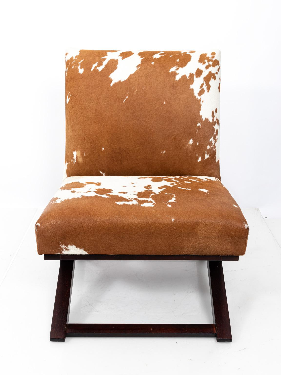 Cowhide Covered Side Chair By Ralph Lauren