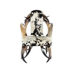 Cowhide Horn Chair