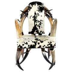 Cowhide Horn Chair
