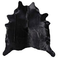 Cowhide Rug Black Large Size
