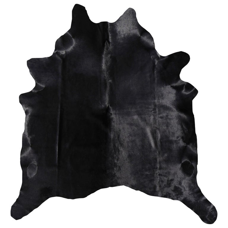 Cowhide Rug Black Large Size For Sale