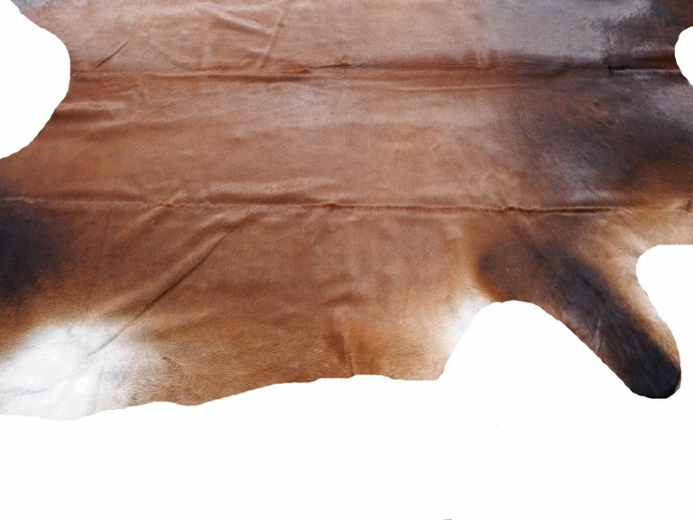 Cowhide Rug Brown Extra Large Size For Sale 1