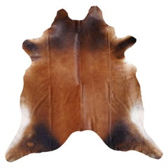 Cowhide Rug Brown Extra Large Size