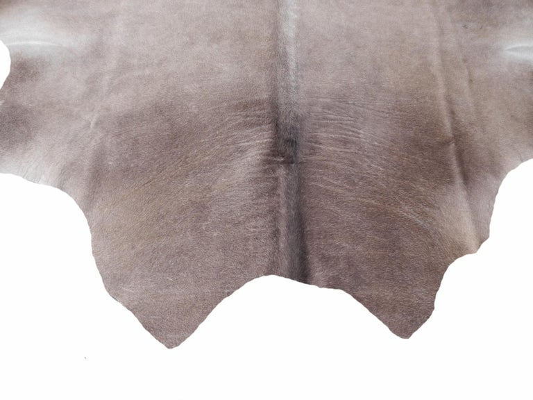 Contemporary Cowhide Rug Brown Grey Large Size For Sale
