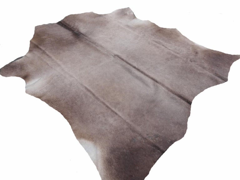 Cowhide Rug Brown Grey Large Size For Sale 3