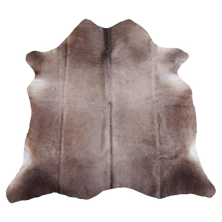 Cowhide Rug Brown Grey Large Size For Sale
