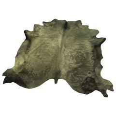 Cowhide Rug, Khaki, Hand Dyed, Sustainably Sourced, Variety of Colors
